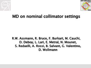MD on nominal collimator settings
