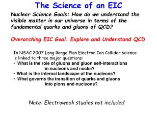 The Science of an EIC