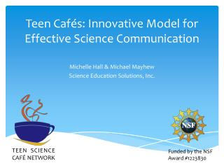Teen  Cafés: Innovative Model for Effective Science Communication