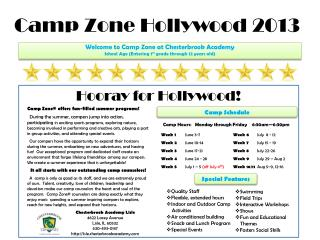 Camp Zone Hollywood 2013