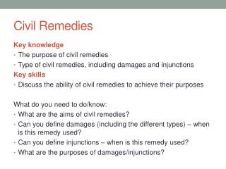 Civil Remedies