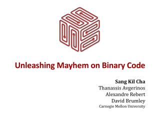 Unleashing Mayhem on Binary Code