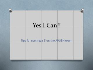 Yes I Can!!