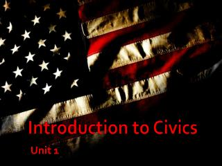 Introduction to Civics