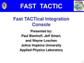 FAST  TACTIC Fast TACTical Integration Console