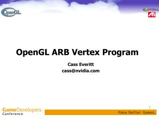 OpenGL ARB Vertex Program