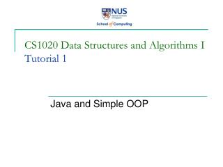 CS1020 Data Structures and Algorithms I Tutorial 1