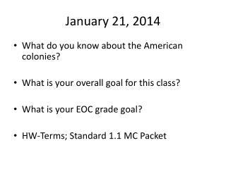 January 21, 2014