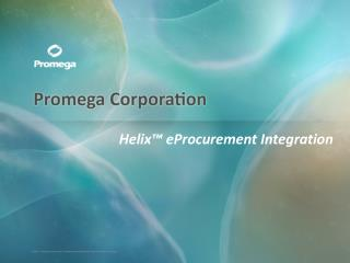 Helix™ eProcurement Integration