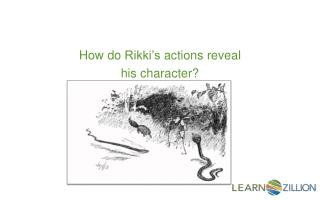 How do  Rikki's  actions reveal  his character?