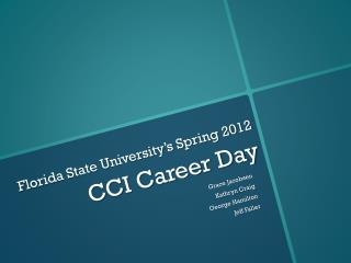 Florida State University's Spring 2012 CCI Career Day