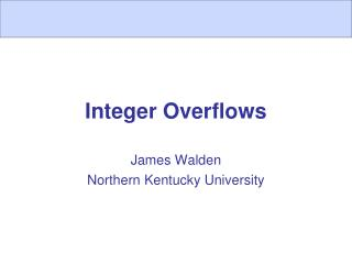 Integer Overflows