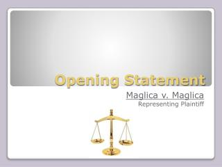 Opening Statement