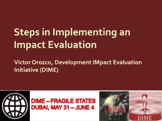 Steps in Implementing an Impact Evaluation