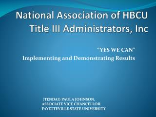 National Association of HBCU Title III Administrators, Inc