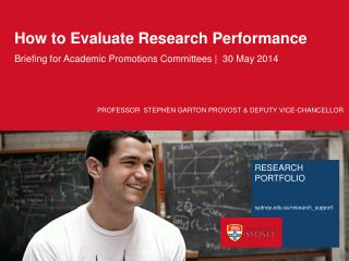 How to Evaluate Research Performance