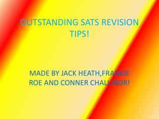 OUTSTANDING SATS REVISION TIPS!