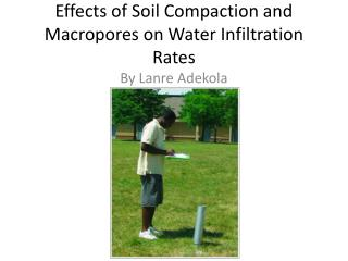 Effects of Soil Compaction and Macropores on Water Infiltration Rates