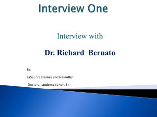 Interview One