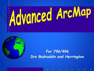 Advanced ArcMap