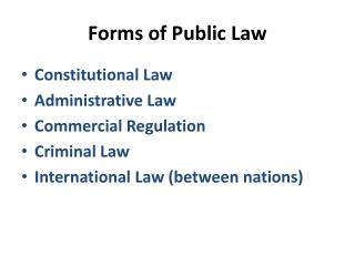Forms of Public Law