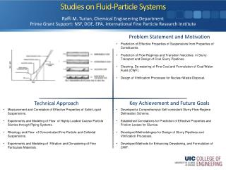 Studies on Fluid-Particle Systems