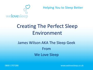 James Wilson AKA The Sleep Geek From We Love Sleep