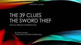 The 39 Clues The Sword Thief