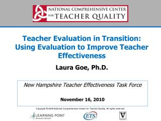 New Hampshire Teacher Effectiveness Task Force November 16, 2010