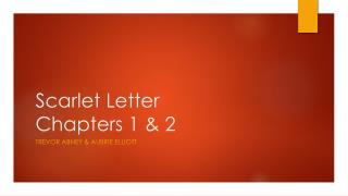 Scarlet Letter Chapters 1 & 2
