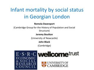 Infant mortality by social status in Georgian London
