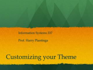 Customizing your Theme