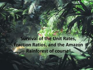 Survival of the Unit Rates, Fraction Ratios, and the Amazon Rainforest of course!