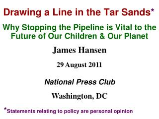 Drawing a Line in the Tar Sands *