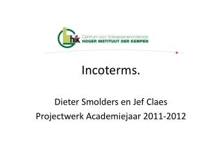 Incoterms.