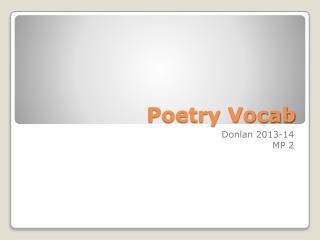 Poetry Vocab