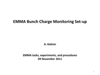 EMMA Bunch Charge Monitoring Set-up