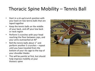 Thoracic Spine Mobility – Tennis Ball
