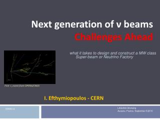 Next generation of  ν  beams  Challenges  A head