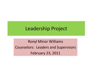 Leadership Project