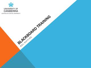 Blackboard Training