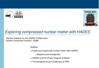 Exploring compressed nuclear matter with HADES