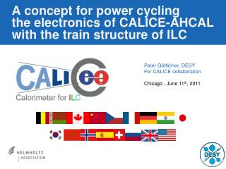 A concept for power  cycling the  electronics of CALICE-AHCAL with the train structure of ILC
