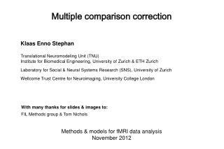 Multiple comparison correction