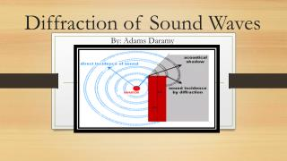 Diffraction of Sound Waves By: Adams  D aramy