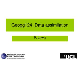 Geogg124: Data assimilation