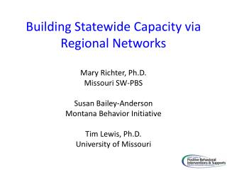 Building Statewide Capacity via Regional Networks