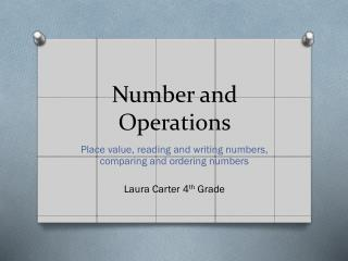 Number and Operations