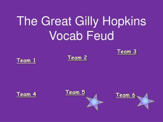 The Great Gilly Hopkins Vocab Feud