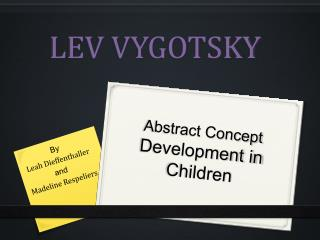 Abstract Concept  Development in Children